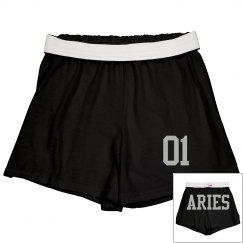 Aries Sporty Zodiac Cheer Shorts