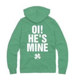 Irish Aye Hes Mine Couple Hoodie