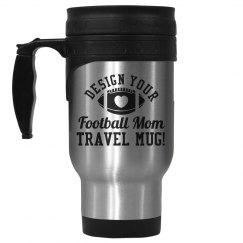 Football Mom Travel Mug