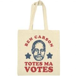 Ben Carson Totes Votes