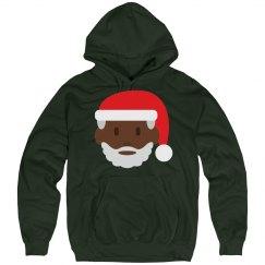 black santa claus emoji