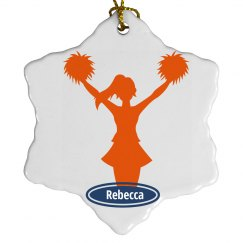 Cheerleader Xmas Ornament