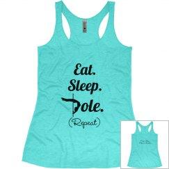 Eat Sleep Pole Blue