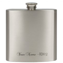 """""""RDH"""" 6 oz Stainless Steel Flask"""