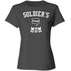 Proud soldier's mom
