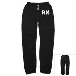 Black RN sweatpants