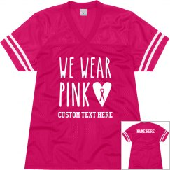 Trendy Pink Breast Cancer Jersey