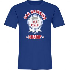 USA Drinking Champ Tee