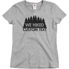 Custom Hiking Trail Couples Tee