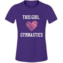 Girl loves gymnastics