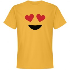 Emoji Love Eyes Face Costume