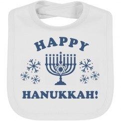 Baby Bib Happy Hanukkah