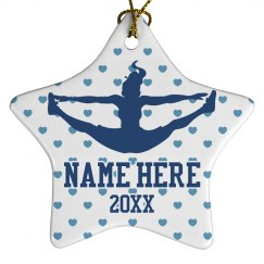 Custom Cheerleader Team Ornament With Name and Year