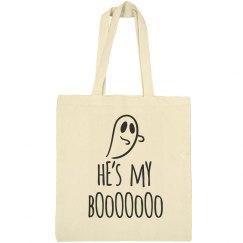 He's My Boooo Halloween Tote