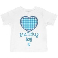 Birthday boy is 3