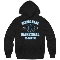 Custom Rhinestone Basketball Hoodie