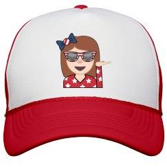 july 4th emoji girl hat