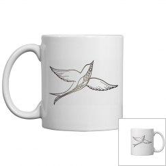 Abstract Sparrow Mug