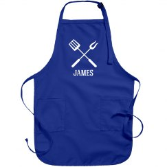 James personalized apron