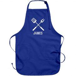 James personalized apron