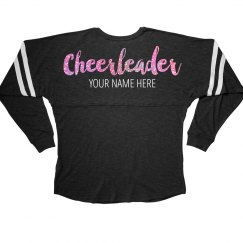 Pink Glitter Text Cheerleader Gift