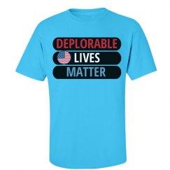 Deplorable Lives Matter USA Flag Tee