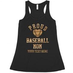 Gold Proud Baseball Mom Custom