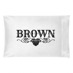 BROWN.Pillow case