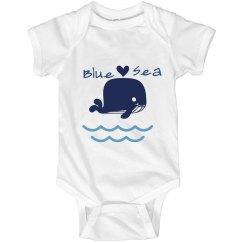Matching Blue sea baby onsie