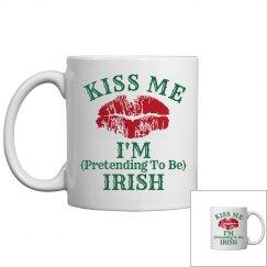 Kiss Me Irish Humor Mug