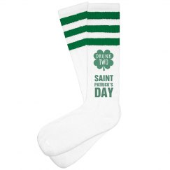St Patricks Day Drunk Socks 2