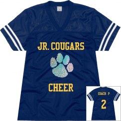 Cheer Coach Jersey w/Rhinestone Paw