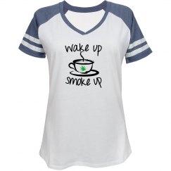 Wake Up Smoke Up Jersey Tee
