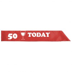 50TH Party Sash