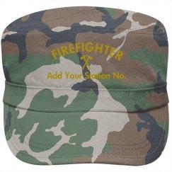 Custom firefighter cap