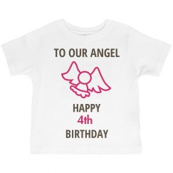To our angel who is 4