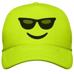 Emoji Sunglasses Face Hat