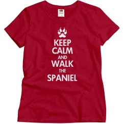 Walk the spaniel