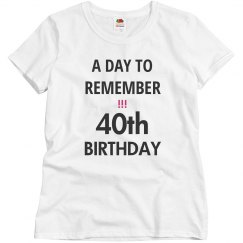 A day to remember, 40th