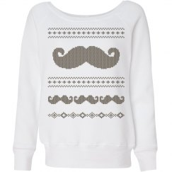 Mustache X-Mas Sweater