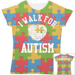 I Walk For Autism All Over Print