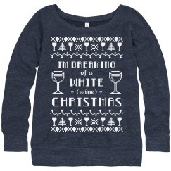 Ugly Sweater Wine Drinker