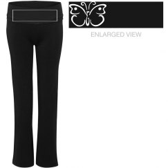 Yoga pants with butterfly