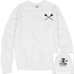 White Lacrosse Crew Neck