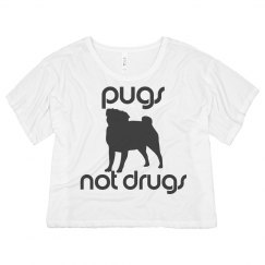 Pugs Not Drugs Neon Tee