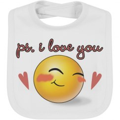 PS. I love you emoji Baby bib