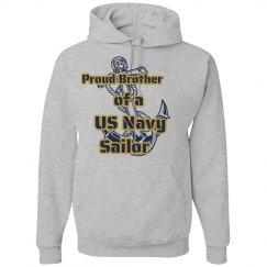 Navy Brother Hoodie