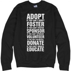 Adopt, Foster, etc(sweat)