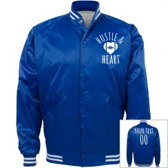 Satin Bomber Football Game Bling