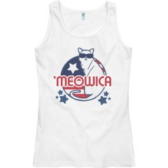 Feline 'Meowica July Fourth Tank